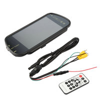 7 Inch TFT LCD Auto Spiegel Monitor MP5 Auto Reverse Rear view Touchscreen Monitor USB FM Voor DVD TV Parking Camera