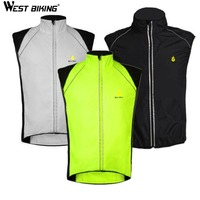 WEST BIKING 2017 Sleeveless Bike Vest Riding Motorcycle Reflective Safety Warning Bicycle Cycling Vest Chaleco Ciclismo