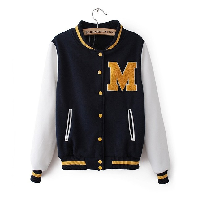 2013 2014 Fashion Women Baseball Jacket Sports Women Coat Europe ...