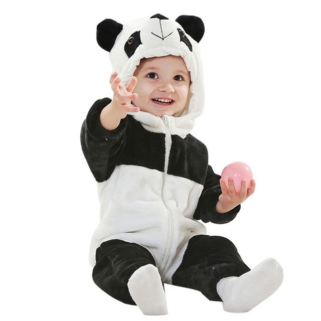 860dac0f9 Infant Romper Baby Boys Girls Jumpsuit New Born Bebe Clothing Hooded  Toddler Baby Clothes Cute Panda Sc 1 St AliExpress.com