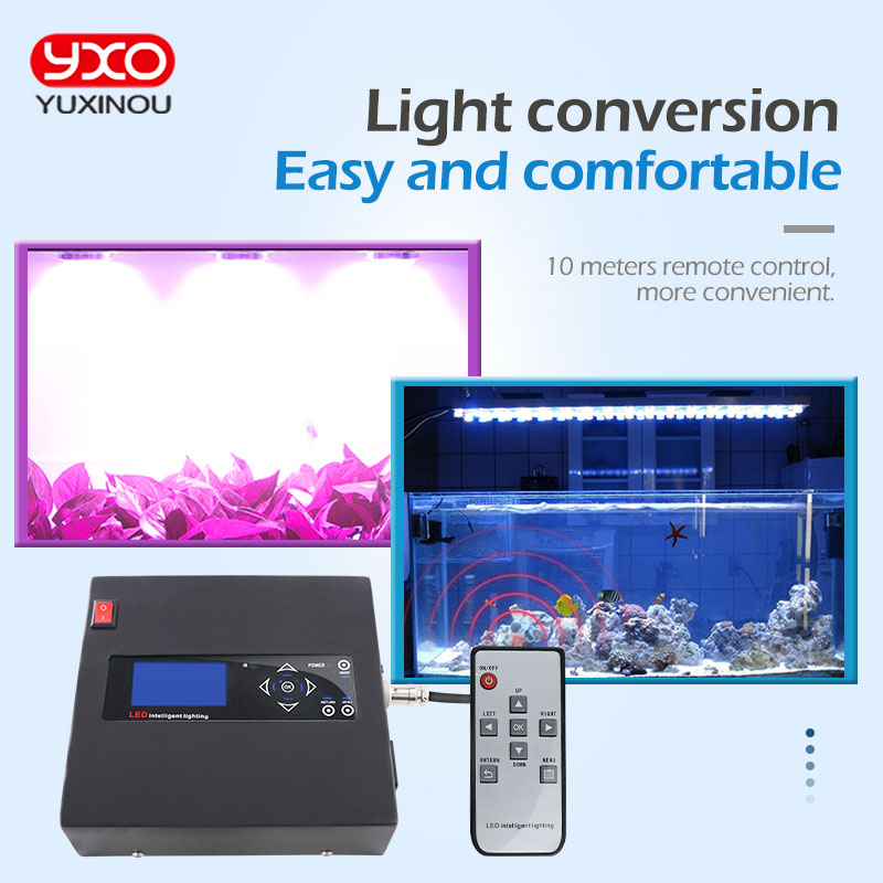 Full Spectrum Led Grow Light Controller 100W 150W 200W Programmable Wireless Led Aquarium Light Controller Timmer for Coral 100w lumia 5 1 diy aquarium led light sunrise sunset dimmable led aquarium light 100w remote auto dim coral reef led lighting