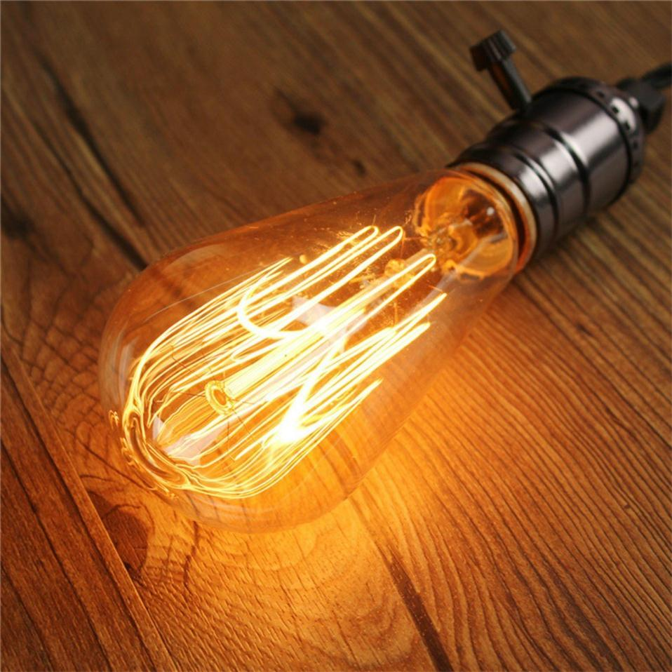 Retro Lamp ST64 40W 60W Vintage Edison Bulb E27 Incandescent Bulb 110V 220V Filament Lamp Holiday Lights For Home Decor Lighting