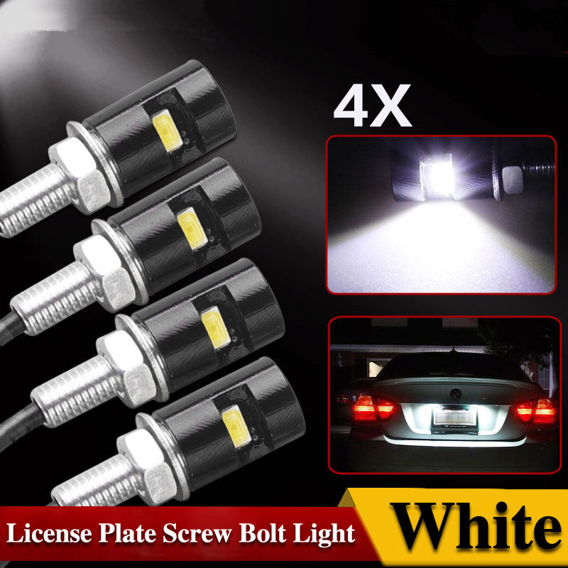 CYAN SOIL BAY 2pcs Accessories Screw Bolt Light SMD 5630 Styling License Plate lamp Car Auto Motorcycle White LED Tail Number 18 smd 2x no error car styling led license plate light for kia ceed cerato forte auto rear number plate lamp replacement