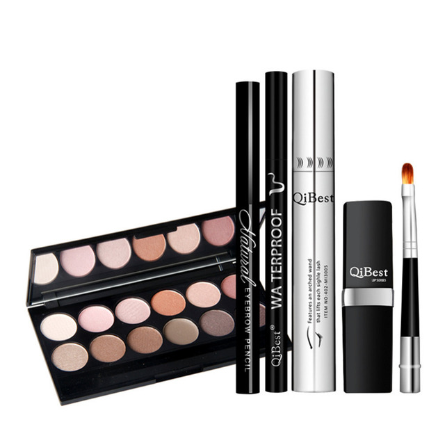 Perfect Makeup Kits12Color Eyeshadow Eyebrow Brush Waterproof Lipstick Eyeliner Pencil Lengthening Eyelash Mascara Set