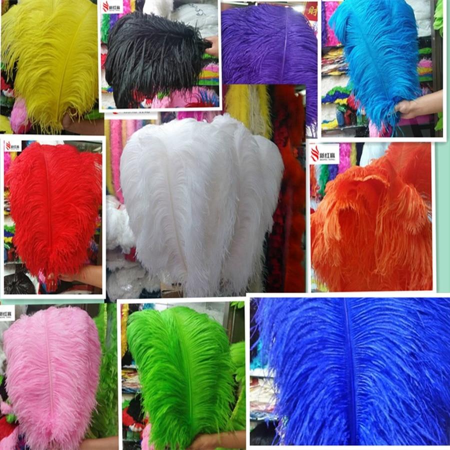 velký pól pštrosí peří peří 5 ks 60-65 cm / 24-26 palce přírodní peří pro svatební dekorace