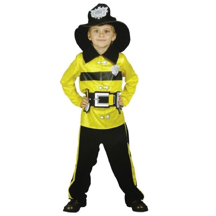 Бесплатная доставка! Пожарный мальчики играют стадия косплей костюмы хэллоуин детской одежды пожарные-формы пожарных