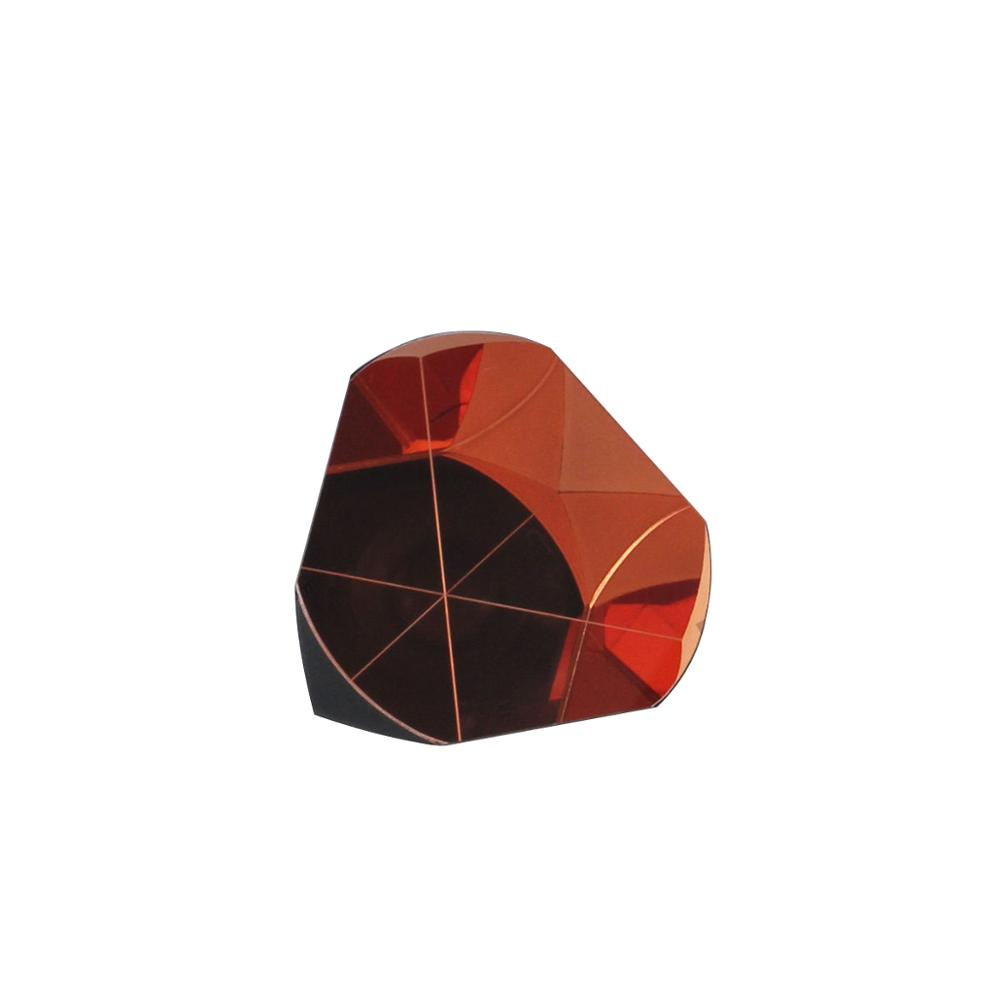 1PCS 64mm diameter Corner Cube Prism, height copper plated Trihedral Retroreflector [randomtext category=
