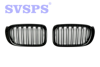 High Quality ABS Front Middle Grille Double Slat Style For BMW F25 X3 F26 X4 2014 2018