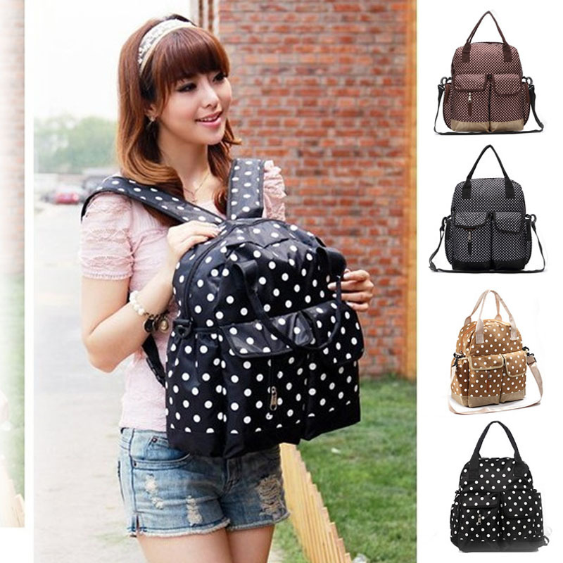 designer backpack diaper bag r1yq  Aliexpresscom : Buy Hot New 7Colors 3Pcs/Set Fashion Dot Design Baby Diaper  Bag Backpack Stroller Bag Baby Diaper Bags for Mom Mam with Diaper Pad from