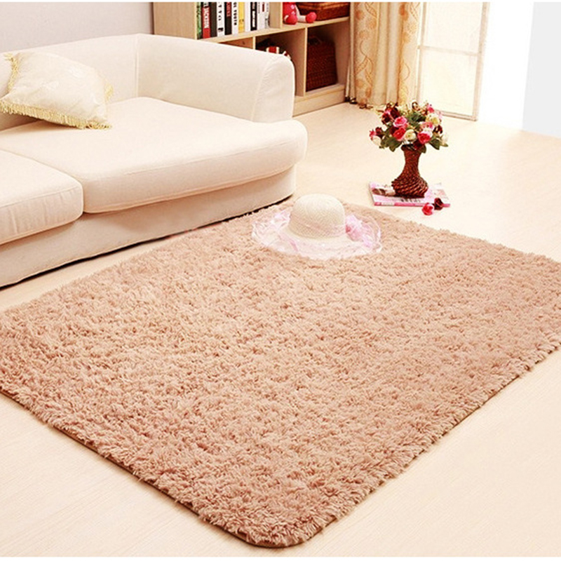 Carpets For Living Room Shaggy 9 Colors Wool Rug Anti Skid