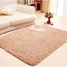 Shaggy alfombras para la sala 9 colores lana alfombra antideslizante carpet floor carpet niños habitación dormitorio estera suave casa
