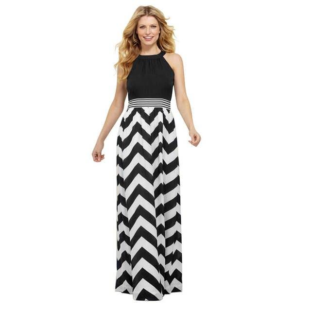 ce96ce4edd5 placeholder Long Summer Dress 2018 Cotton Prink Strap Summer Spaghetti  Strap Dresses Striped Black Plus Size Summer