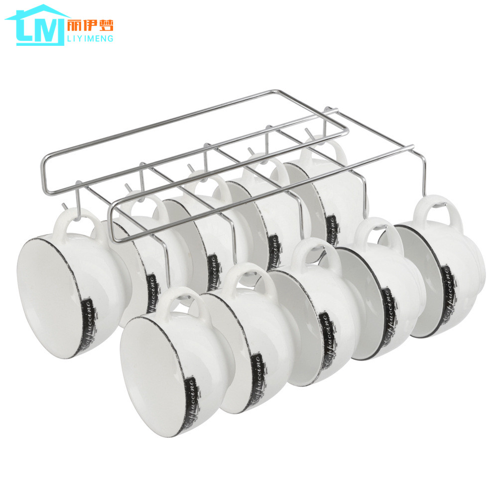 liyimeng almacenaje de la cocina estante para platos estante gancho de percha del armario que cuelga