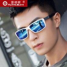 Raydem Men's Aluminum Polarized Mens Sunglasses Mirror Sun Glasses Square Goggle Eyewear Accessories For Men Female