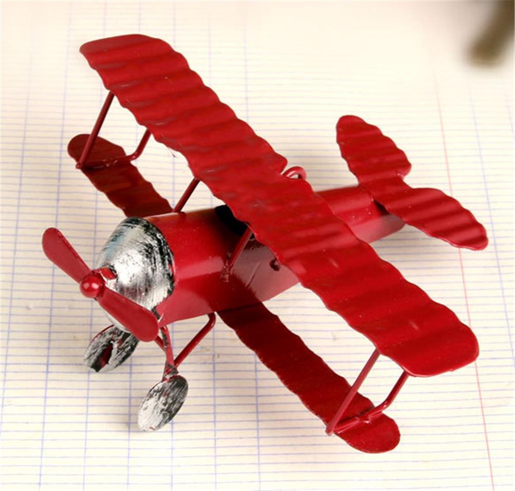 Vintage Metal Plane Mold Glider Biplane Pendant Airplane Model Toy Home Decor