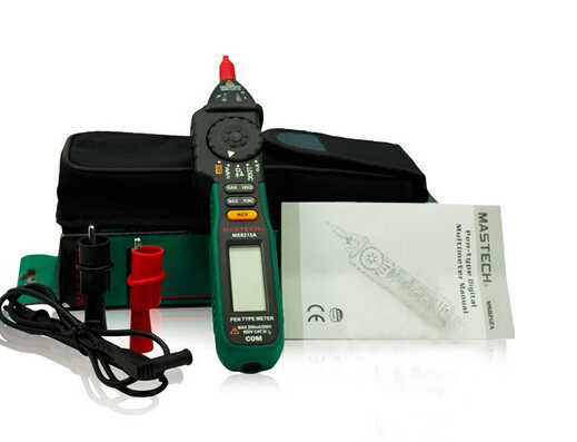 Mastech Pen type Digital Multimeter MS8212A DC AC Voltage Current Tester Diode Continuity Logic Non-contact Voltage  цены