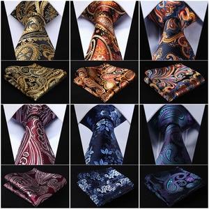 """Image 1 - Pocket Piazza Del Partito Classico Da Sposa Floreale 3.4 """"di Seta di Nozze Mens Extra Lungo Tie XL Cravatta Fazzoletto Set # Q6"""