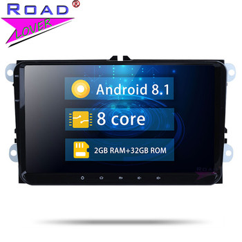 Car Radio Android 8.1 2 Din Octa Core Car GPS Navigation Autoradio For V W Polo EOS Passat Tiguan Golf Stereo Car Head Unit image