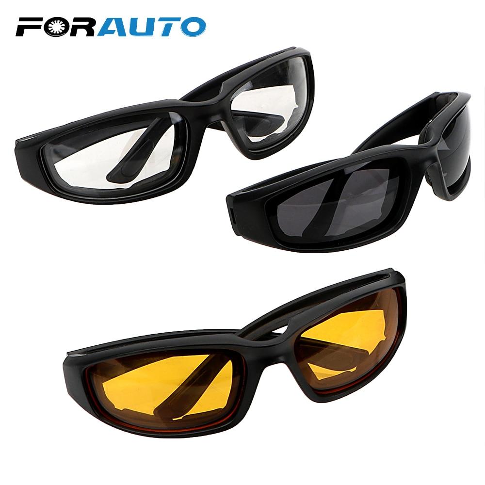 FORAUTO Car Night-Vision Glasse UV Protection Motocross Goggles Protective Gears Sunglasses Driver Goggles Anti Glare