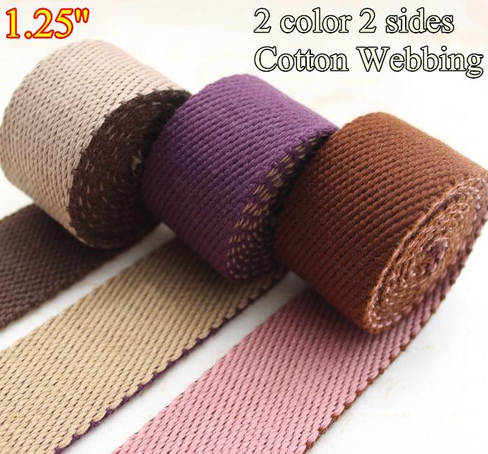 "1 Yard Black 1.25/"" Medium Heavy Weight Cotton Webbing"
