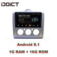 IDOICT Android 8,1 автомобильный dvd плеер gps навигация Мультимедиа для Ford Focus радио 2005 2011 автомобильная стереосистема Bluetooth wifi
