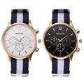 De Moda de lujo Blanco y Negro Correa Reloj de Los Hombres Reloj de Cuarzo Ocasional Hombres de Negocios Del Deporte Muñeca Reloj de Los Hombres, relogio masculino 0000