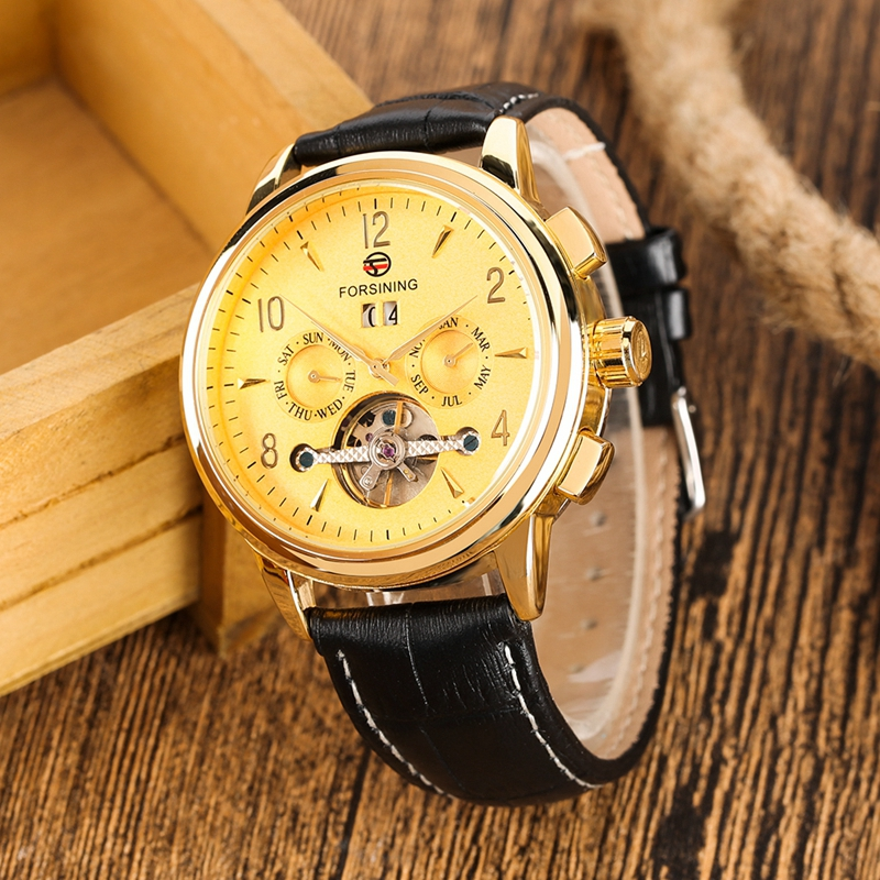 WINNER Watch Men Skeleton Automatic Mechanical Watch Gold Skeleton Vintage Man Watch Mens FORSINING Watch Top Brand Luxury Clock 2019 2020 2021 2022 2023 (13)