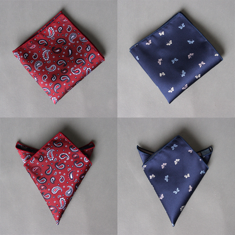 Equestrian Mens Cartoon Handkerchiefs Pocket Square Polyester Silk Wedding Party