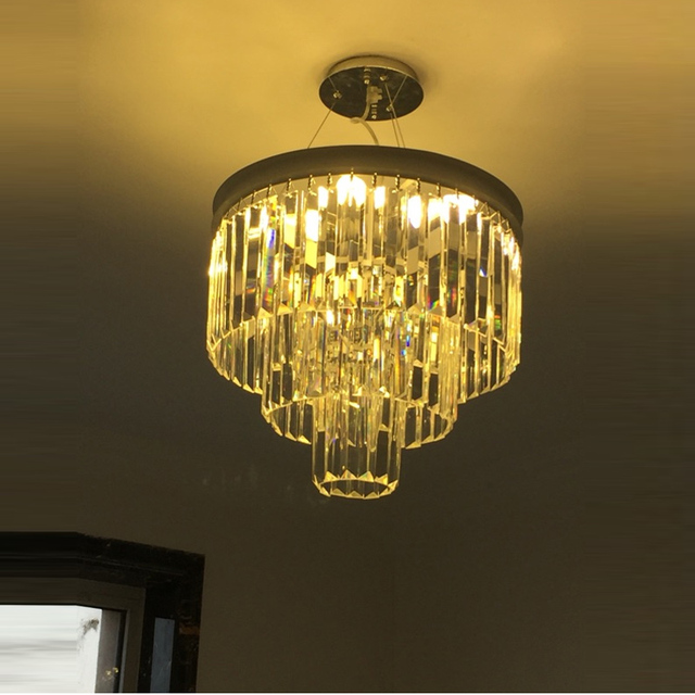 Nordic 2017 new e14 led round pendant crystal luxury light creative modern iron lamps for dining foyer pendant lamp