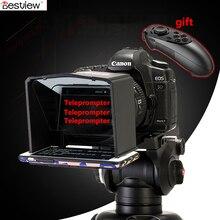Bestview smartphone teleprompter para canon nikon sony camera photo studio dslr para youtube entrevista teleprompters câmera de vídeo