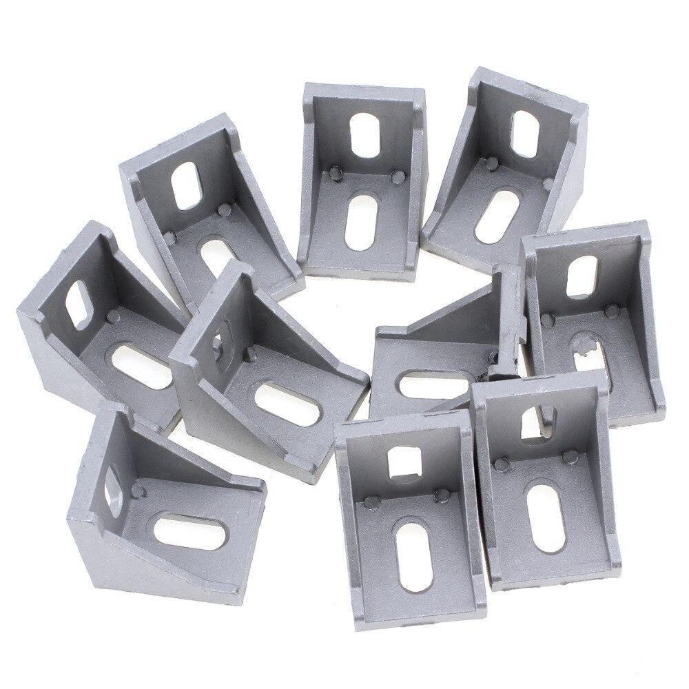 10 unids! Aluminio 4040 código ángulo agujero tuerca conector ...