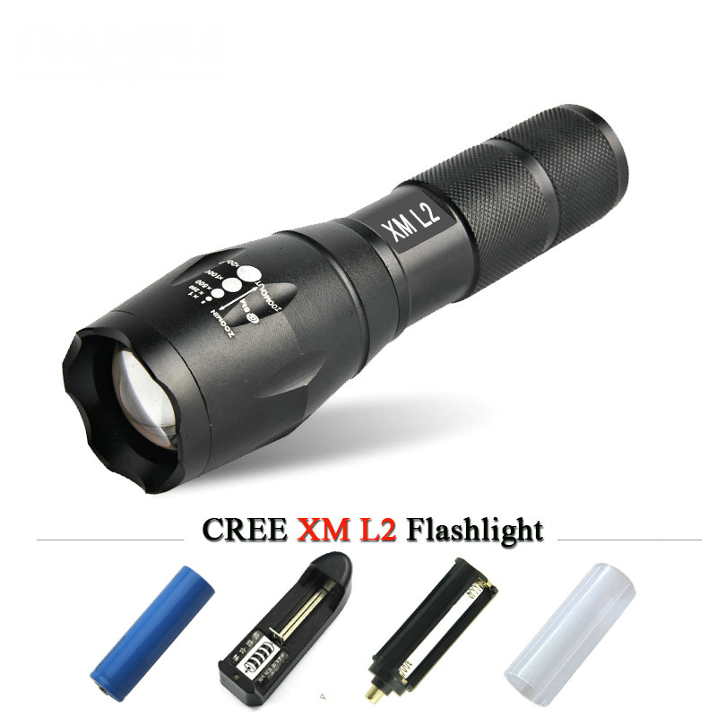 powerful led flashlight cree xm-l t6 l2 linternas waterproof led torch zaklamp bike light use18650 Chargingor 3XAAA battery lamp