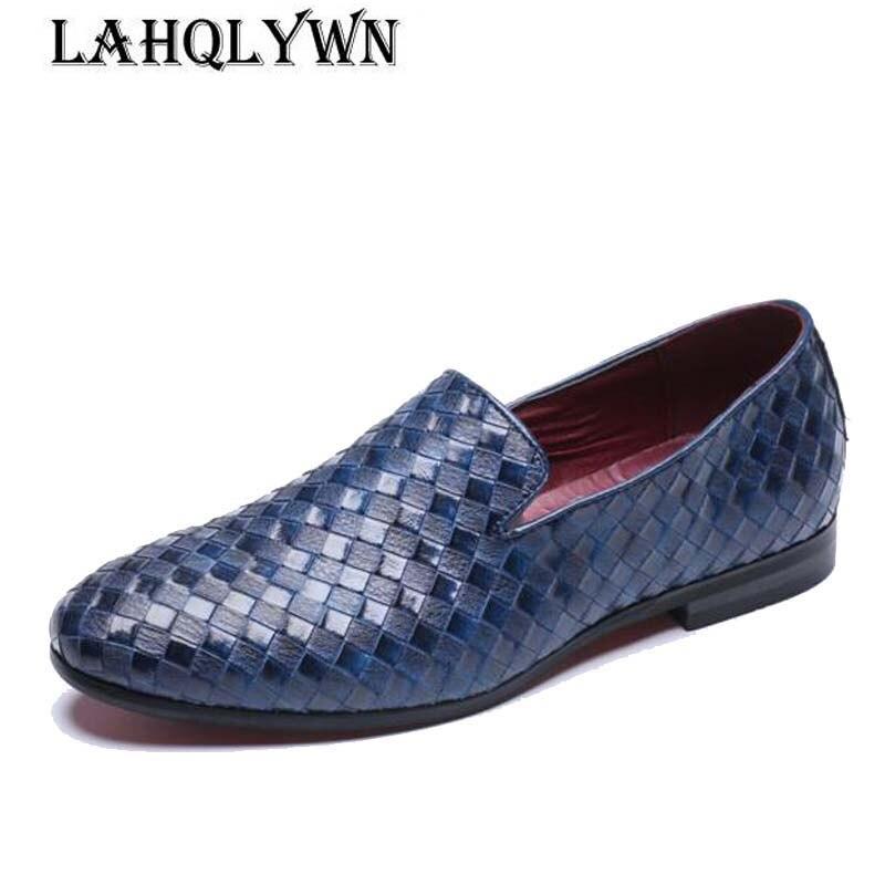 100% Wahr Männer Schuhe Luxus Marke Braid Leder Casual Fahren Oxfords Schuhe Männer Müßiggänger Mokassins Italienische Schuhe Für Männer Wohnungen M194