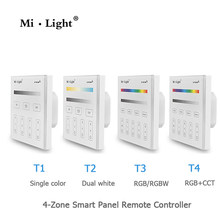 Milight Dipimpin Panel Remote Kontrol 2.4G wireless 4 Zona RF Dimmable dimmer remote Sentuh Panel dinding Controller T1 T4(China)
