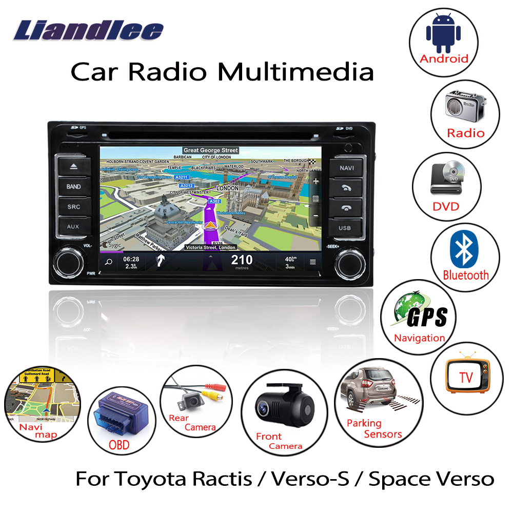 Liandlee For Toyota Ractis / Verso S / Space Verso 2005~2013 Android Car Radio DVD Player GPS Navi Navigation Maps Camera OBD TV