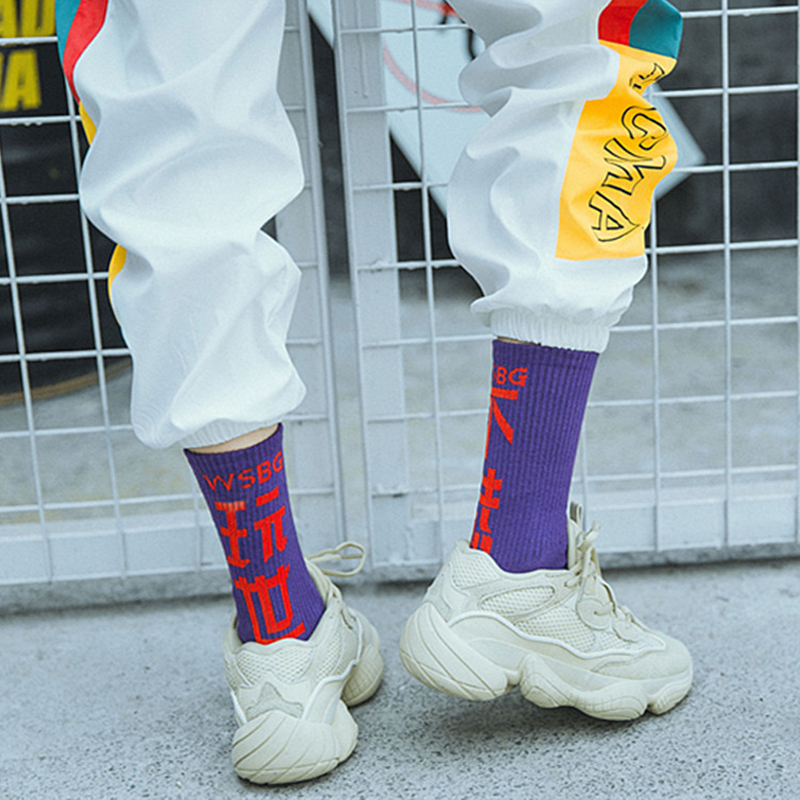 2018 Autumn Women Fashion Socks Cotton Street Style Hiphop Skateboard Socks For Male Harajuku Crew Streetwear Socks  Meias