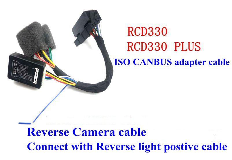 iso quadlock adapter cable canbus decoder simulator for vw golf vi jetta 5  6 mk5 mk6