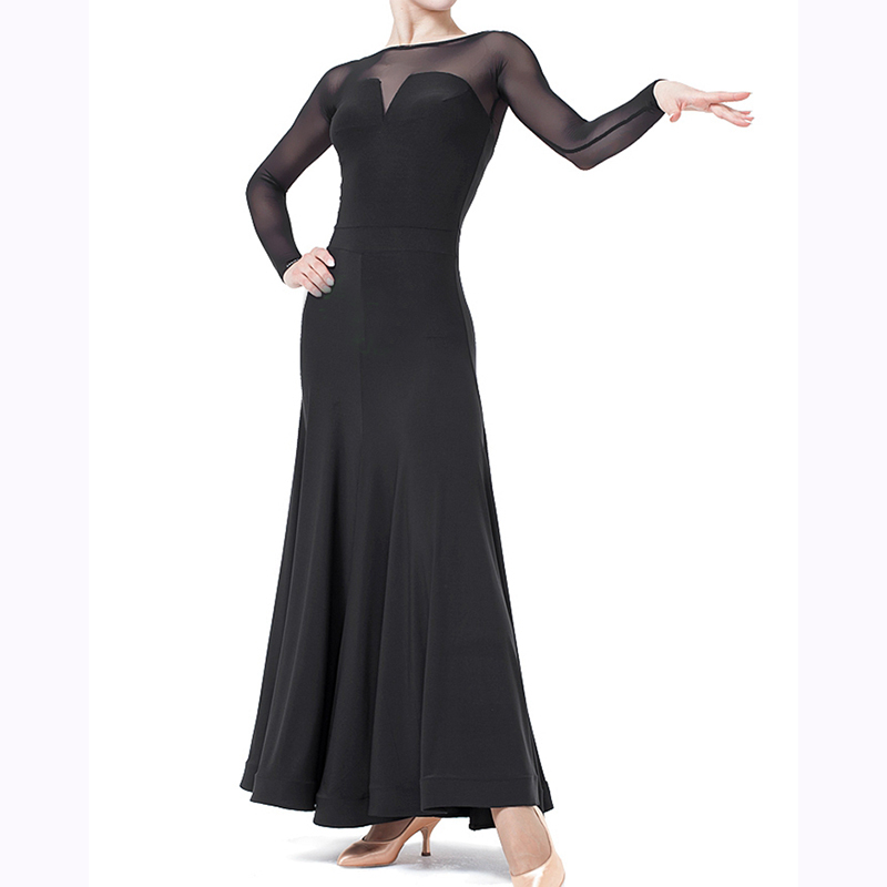 2018 New Ballroom And Modern Dance Dress For Woman long Sleeve  Can Be Customized To Color Stage Wear Performance Costume DQ5028