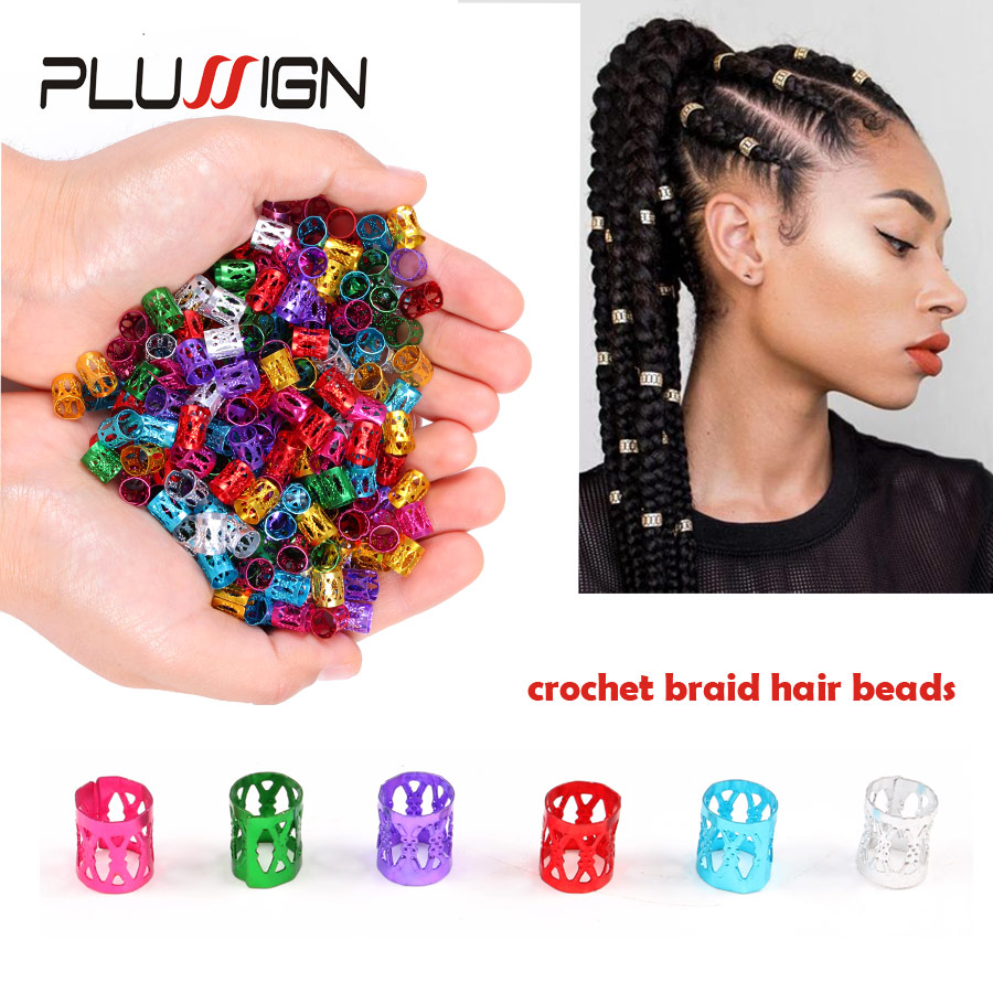 Hair Beads For Kids Box Braids Hair Accessories Dreadlock Cuffs Silver Golden Hair Clips Adjustable Hair Extension Beads 50Pcs vogue brown gradient braids synthetic senegal twists hair extension for women