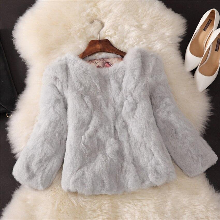 2017 Neue Fashoin Winter Frauen Kurzmantel Schlank Warme Starke Feder Faux Pelzmäntel Weibliche Hülse Mit Drei Vierteln Jacke Outwear Ab689