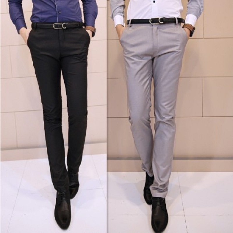 Free shipping men's western style slim fit solid color straight ...
