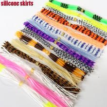 2020hot 15Bundles silicone skirts fly tying materials DIY spinnerbaits, jig lures squid rubber 15 colors