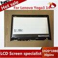 De alta calidad de 14.0 pulgadas Para Lenovo YOGA 3 YOGA táctil + pantalla 3 14 (80JH) LCD Asamblea de Pantalla Táctil + Marco 1920X1080