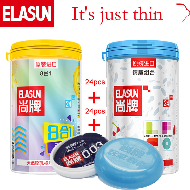 ELASUN 48PCS Multiple Types Ultra Thin Natural Latex Rubber Condom Condoms Ice and Fire Dotted Pleasure for Her  for MenELASUN 48PCS Multiple Types Ultra Thin Natural Latex Rubber Condom Condoms Ice and Fire Dotted Pleasure for Her  for Men