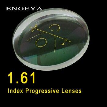 bd56cf443 ENGEYA 1,61 índice Interior lentes progresivo forma libre lente multifocal  lentes asféricos resina lentes de prescripción con revestimiento verde