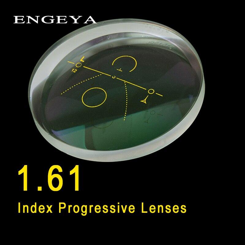 ENGEYA 1.61 Index intérieur lentilles progressives forme libre lentille Multi focale lentilles de Prescription en résine asphérique avec revêtement vert