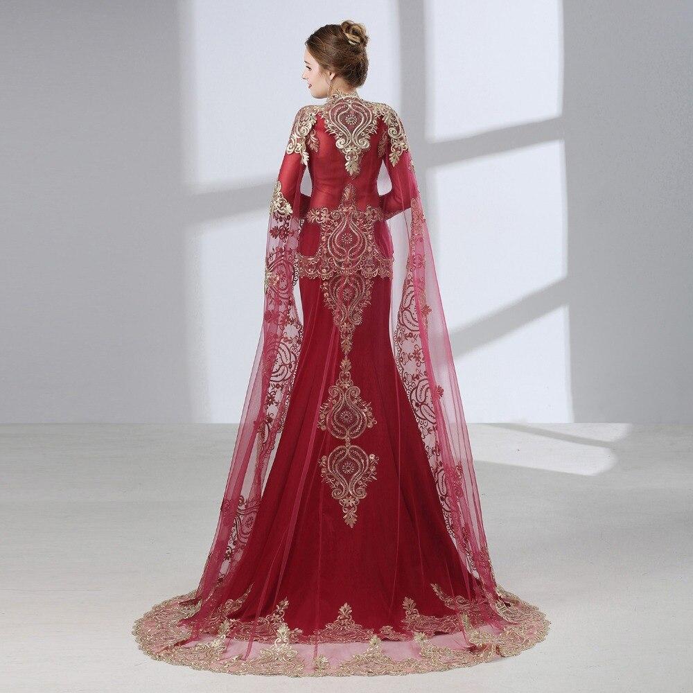 Burgundy Arabic Mermaid Evening Dresses 2019 Robe De Soiree - Särskilda tillfällen klänningar - Foto 2