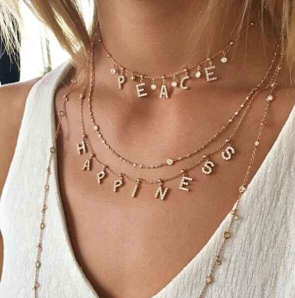 O zircão de duoying pavimenta colares de carta personalizados nome personalizado colares com nomes bolas colares de corrente nlk120 6mm letras