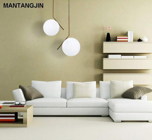 US $53.04 57% di SCONTO|E27 stile Moderno soggiorno camera da letto  minimalista luce del pendente ristorante Nordic abbigliamento decorazione  palla di ...