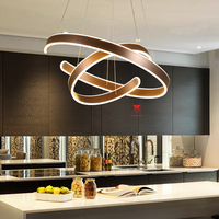 Fashional Dinning Room Modern Chandeliers Circle Rings Led Chandelier Light For Indoor Lighting AC 85 260V